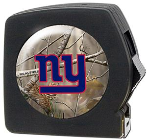 NFL New York Giants 25' RealTree Tape Measure