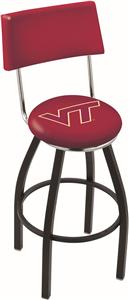 Virginia Tech University Swivel Back Bar Stool