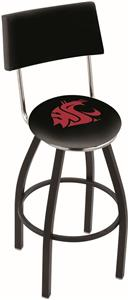 Washington State University Swivel Back Bar Stool