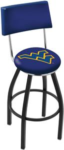 West Virginia University Swivel Back Bar Stool