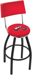 Western Kentucky University Swivel Back Bar Stool