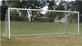 All Goals 6'x18' U-10 Round Aluminum Soccer Goals