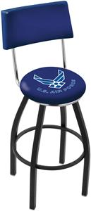 United States Air Force Swivel Back Bar Stool