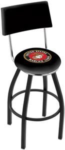United States Marine Corps Swivel Back Bar Stool