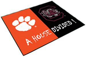 Fan Mats Clemson/South Carolina House Divided Mat