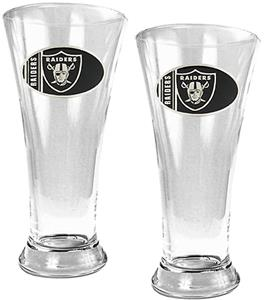 NFL Oakland Raiders 2 Piece Pilsner Glass Set