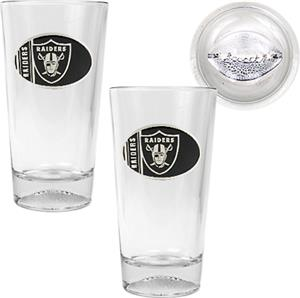 NFL Oakland Raiders 2 Piece Pint Glass Set