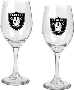 NFL Oakland Raiders 2 Piece Wine Glass Set
