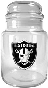 NFL Oakland Raiders Glass Candy Jar