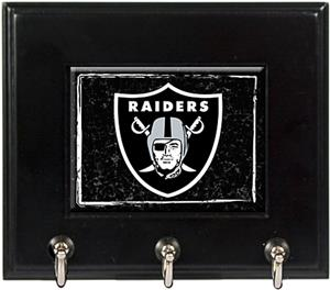 NFL Oakland Raiders Wood Keyhook Rack