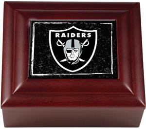 NFL Oakland Raiders Mahogany Keepsake Box