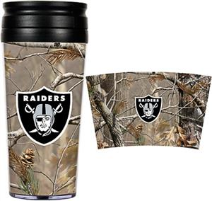 NFL Oakland Raiders 16oz Realtree Travel Tumbler