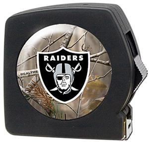 NFL Oakland Raiders 25' RealTree Tape Measure