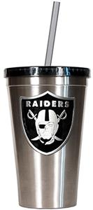 NFL Oakland Raiders 16oz Tumbler with Straw