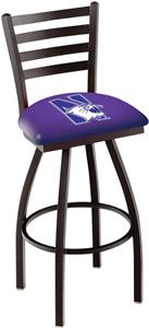 Northwestern University Ladder Swivel Bar Stool