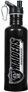 NFL Oakland Raiders Black Stainless Water Bottle