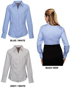 TRI MOUNTAIN Gables Women's Striped Dress Shirt