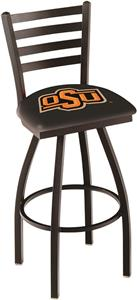 Oklahoma State University Ladder Swivel Bar Stool