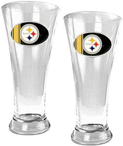 NFL Pittsburgh Steelers 2 Piece Pilsner Glass Set