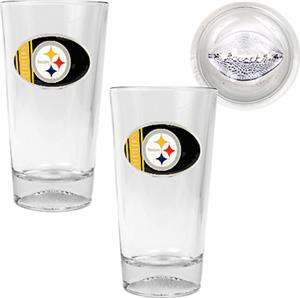 NFL Pittsburgh Steelers 2 Piece Pint Glass Set
