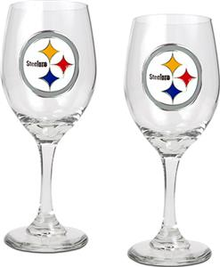 NFL Pittsburgh Steelers 2 Piece Wine Glass Set