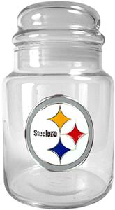 NFL Pittsburgh Steelers Glass Candy Jar