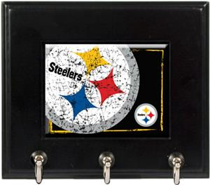 NFL Pittsburgh Steelers Wood Keyhook Rack