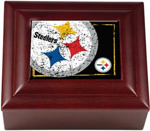 NFL Pittsburgh Steelers Mahogany Keepsake Box