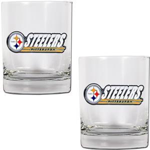 NFL Pittsburgh Steelers 14oz 2 piece Rocks Set