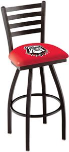 Univ of Georgia Bulldog Ladder Swivel Bar Stool