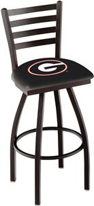 "Univ of Georgia ""G"" Ladder Swivel Bar Stool"