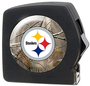 NFL Pittsburgh Steelers 25' RealTree Tape Measure