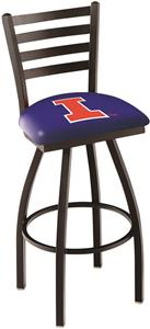 University of Illinois Ladder Swivel Bar Stool