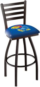 University of Kansas Ladder Swivel Bar Stool