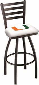 University of Miami FL Ladder Swivel Bar Stool