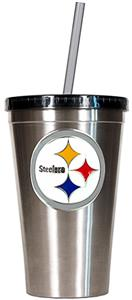 NFL Pittsburgh Steelers 16oz Tumbler with Straw