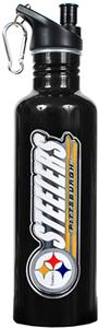 NFL Pittsburgh Steelers Black Water Bottle