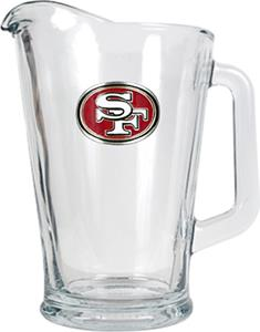NFL San Francisco 49ers 1/2 Gallon Glass Pitcher