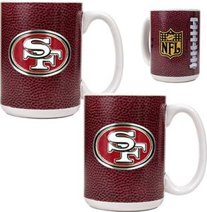 NFL San Francisco 49ers Gameball Mug (Set of 2)