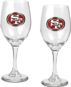 NFL San Francisco 49ers 2 Piece Wine Glass Set