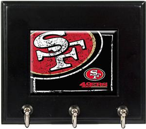 NFL San Francisco 49ers Wood Keyhook Rack