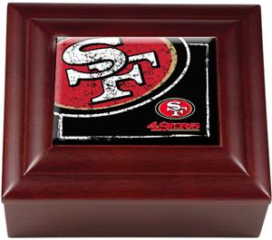 NFL San Francisco 49ers Mahogany Keepsake Box