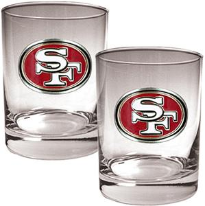 NFL San Francisco 49ers 2 piece Rocks Glass Set