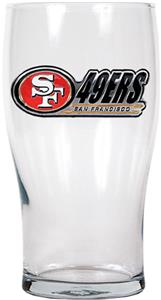 NFL San Francisco 49ers Pub Glass Logo & Team Name