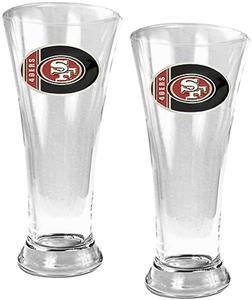 NFL San Francisco 49ers 2Pc 19oz Pilsner Glass Set