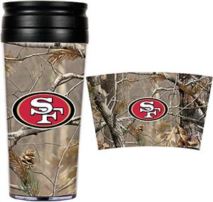 NFL San Francisco 49ers Realtree Travel Tumbler