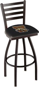Western Michigan Univ Ladder Swivel Bar Stool