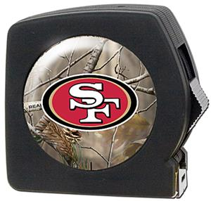 NFL San Francisco 49ers 25' Realtree Tape Measure