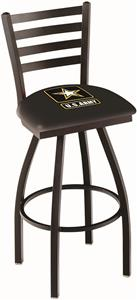 United States Army Ladder Swivel Bar Stool