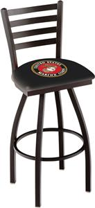 United States Marine Corps Ladder Swivel Bar Stool
